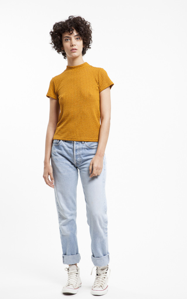 Maria Orange Basic T by RA+RE