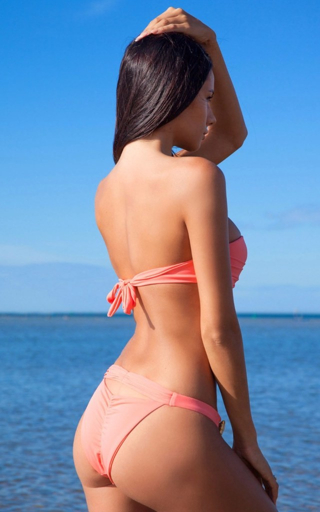 Dazzle Me Orange Bandeau Bikini by SasSea Swimwear