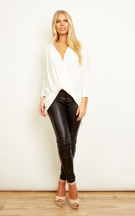 Ivory Slinky Wrap Top by Bella and Blue Product photo