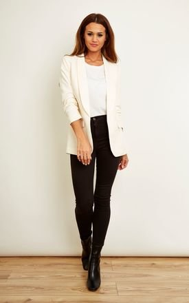 Ivory Tailored Blazer by VILA Product photo