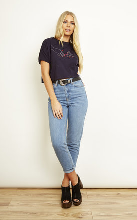 Hands Short Sleeve Crop Top in Black by We Are Still Bold and Beautiful