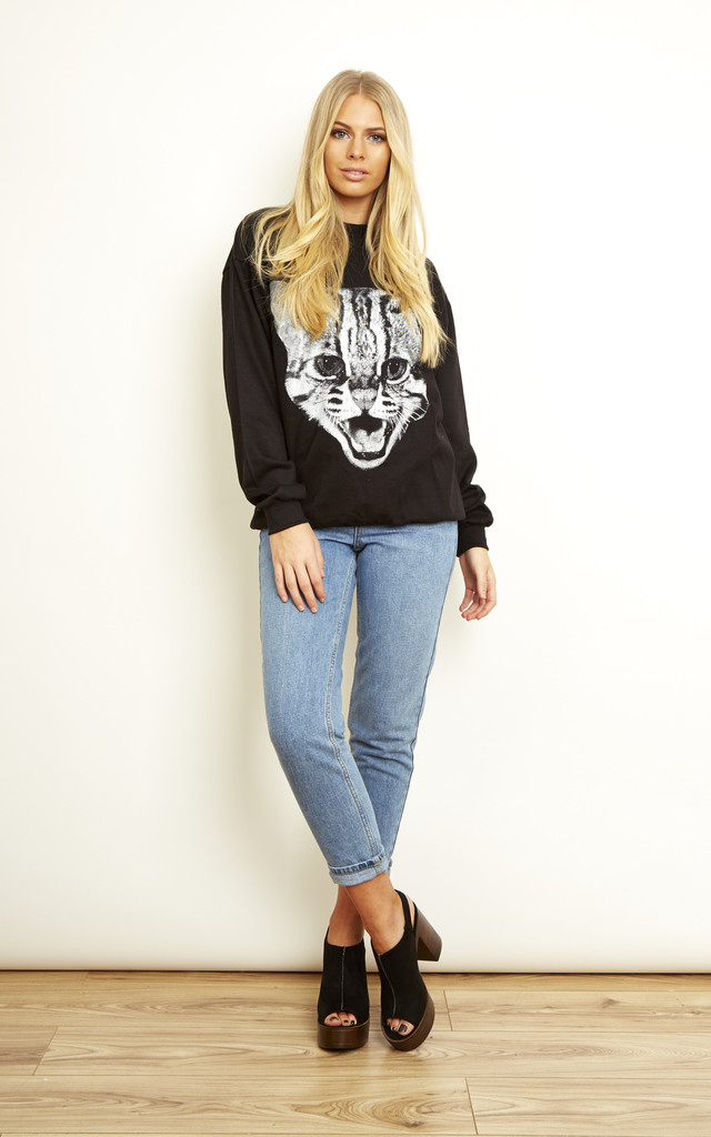 Wild Cat Sweatshirt by We Are Still Bold and Beautiful