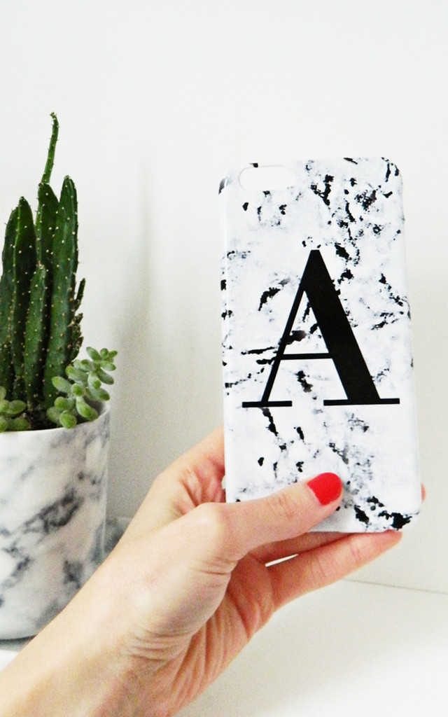 Marbled single letter personalised phone case style 03 by Rianna Phillips