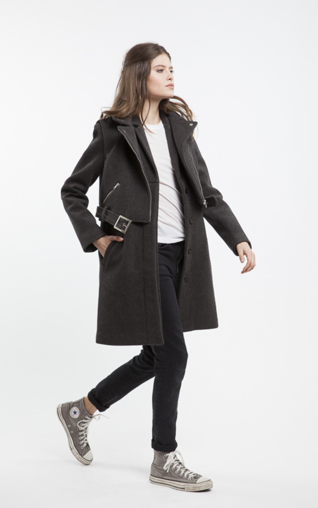 Ioana Two Piece Coat Trench or Biker Jacket by RA+RE