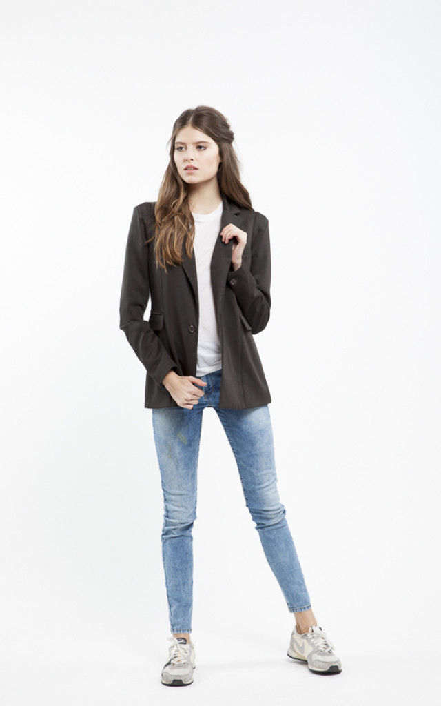 Ana Black Classic Suit Jacket by RA+RE