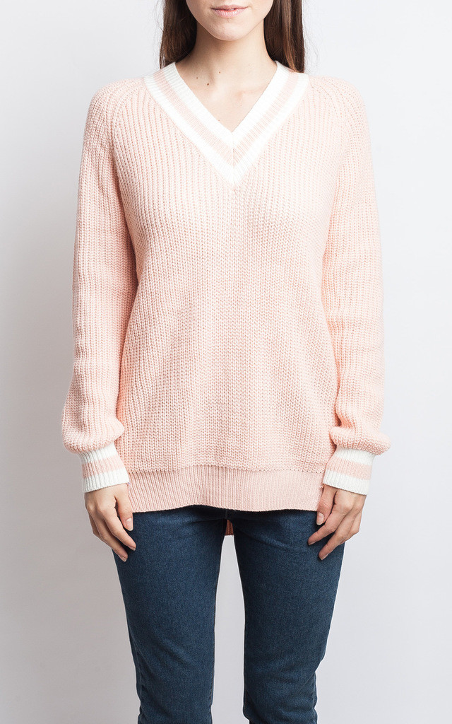 Pale Pink Preppy Jumper by SIVONNA