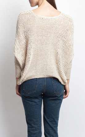 OVERSIZED BEIGE JUMPER by SIVONNA