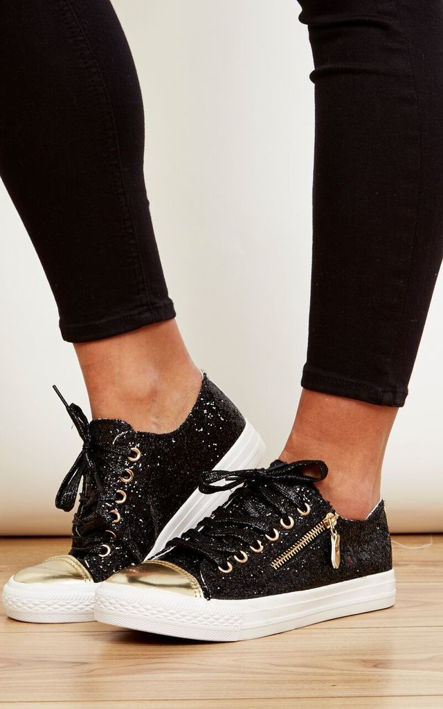 Glitter Zip Up Trainer by Bella and Blue