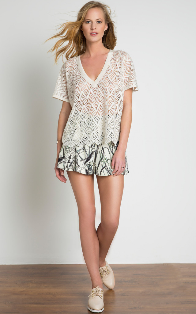 Lace Look Knitted Top by URBAN TOUCH