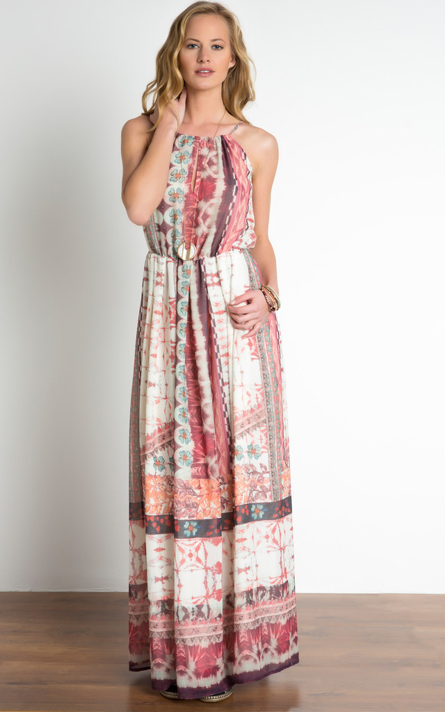 Ethnic Print Maxi Dress by URBAN TOUCH