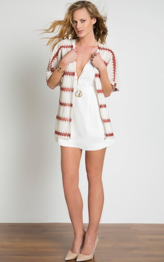 Knitted Printed Kimono by URBAN TOUCH