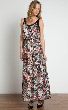 Floral Print Cami Maxi Dress by URBAN TOUCH