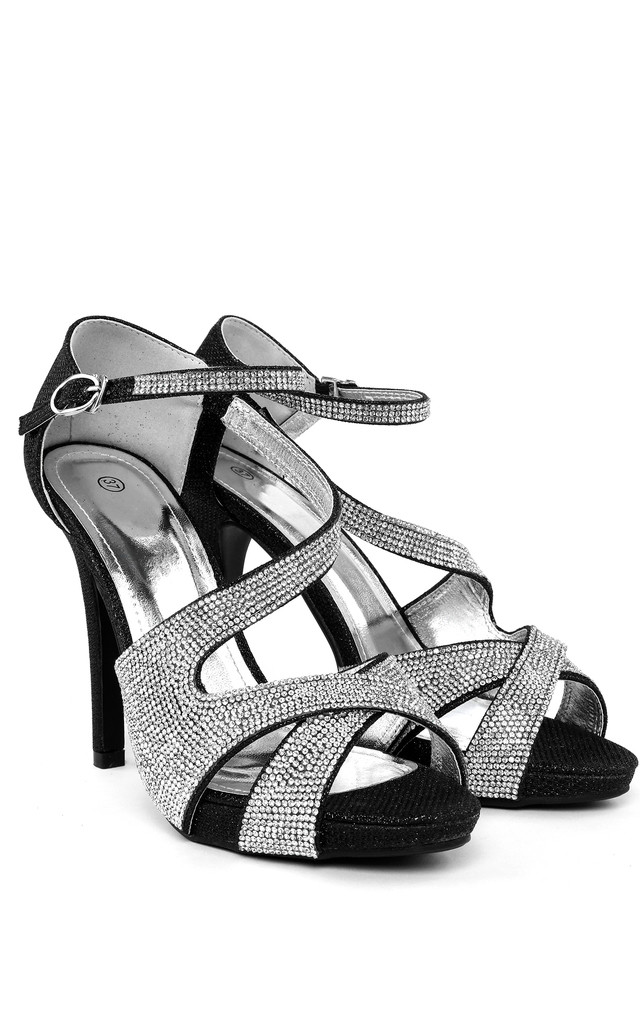 High Heel Diamante Shoes by Jezzelle