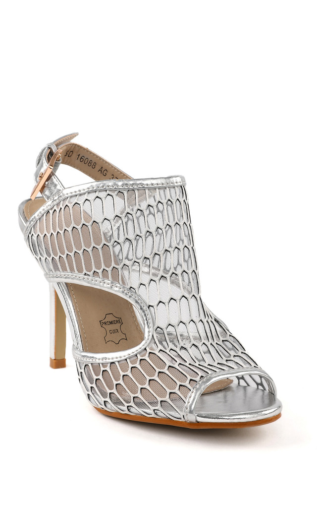 Silver Metallic Sandals by Jezzelle