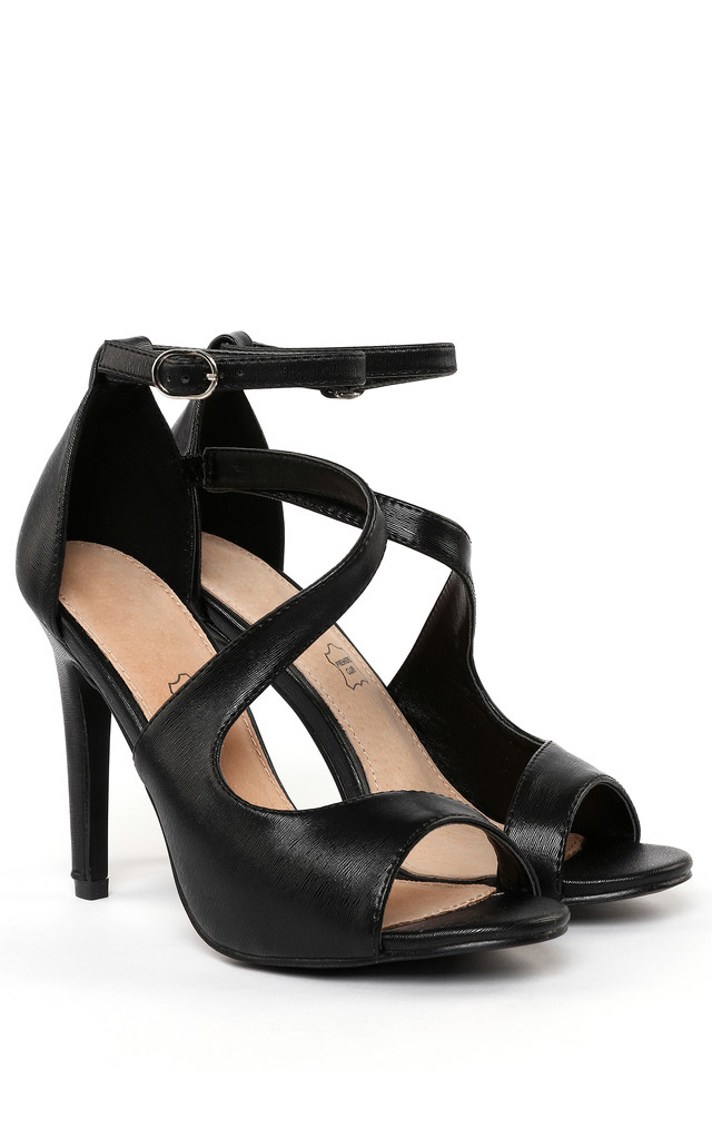 Cut-out Ankle Strap Shoes by Jezzelle