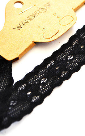Uprise Elasticated Lace Choker by Wanderdusk