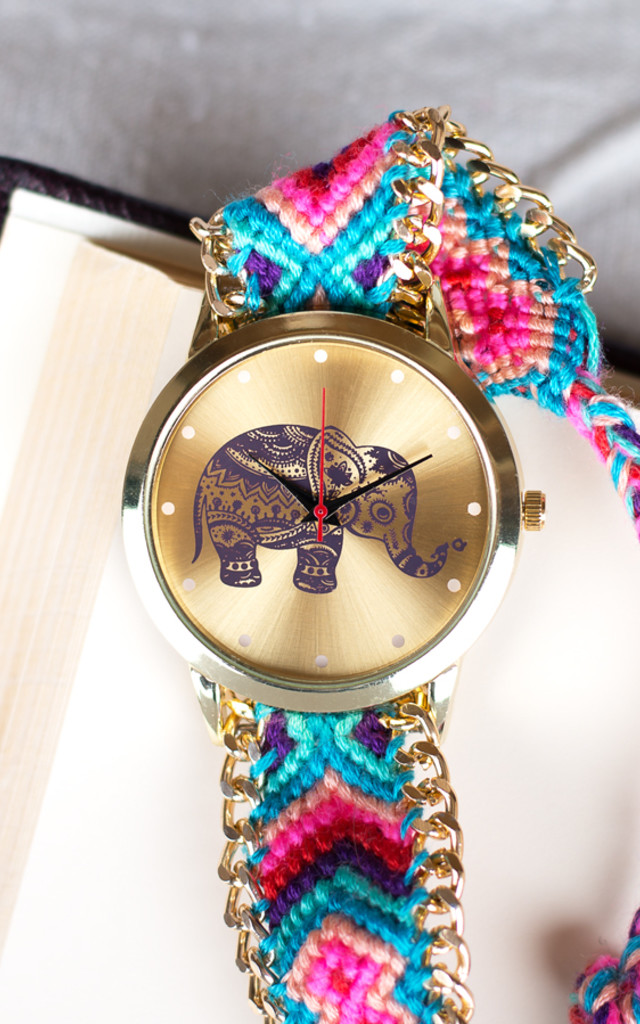 Elephant Blue Fabric Watch by Arcus Accessories