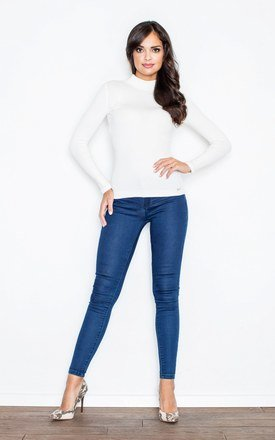 Ecru Turtleneck Blouse by FIGL