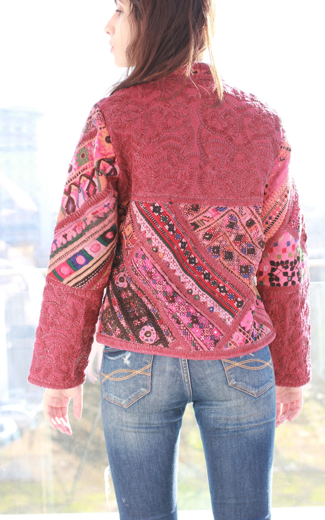 Banjara embroidered leather jacket by be-snazzy