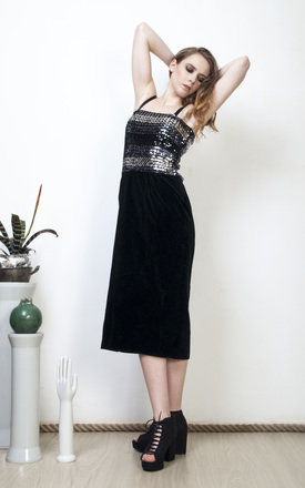 90s vintage sequin velvet prom dress by Pop Sick Vintage