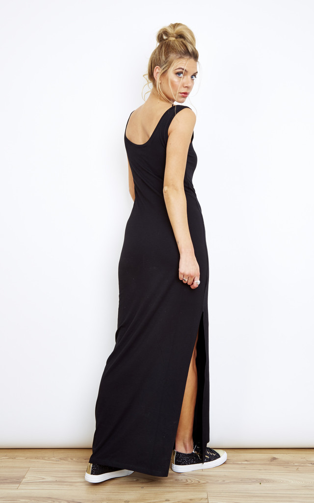 Black Maxi Dress with Side Split by VILA