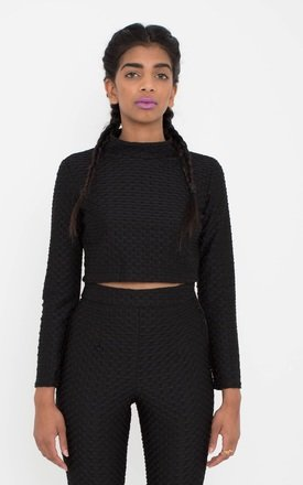 Textured Black Crop by ceekit Product photo