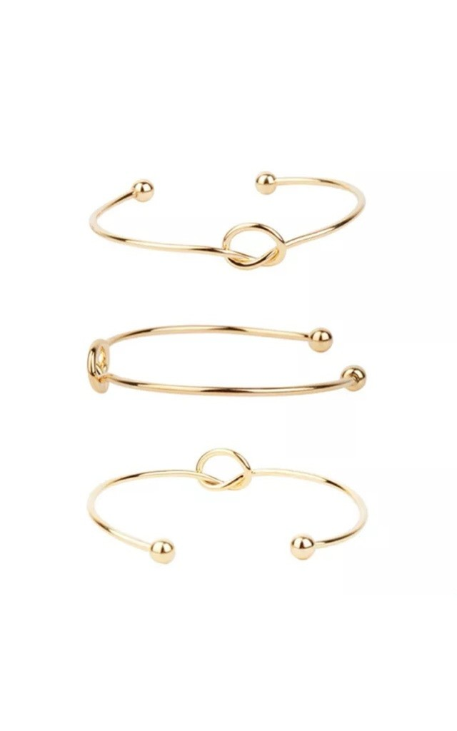 Gold Knot Bangle by Diamond in The Sky