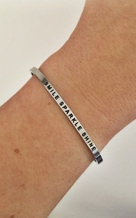 Smile Sparkle Shine Bangle by Blondie Rocks