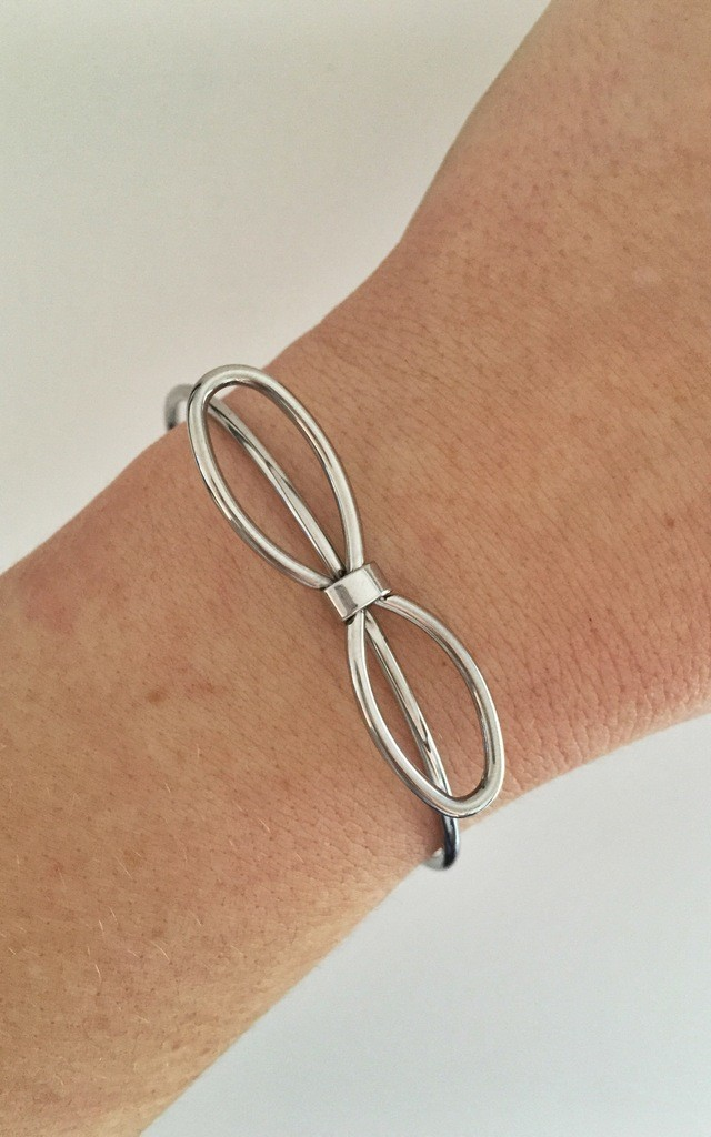 Silver Bow Bangle by Blondie Rocks