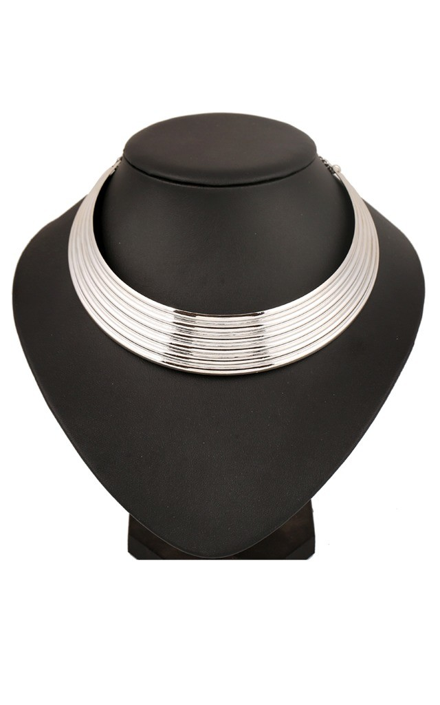Silver Egyptian Collar Necklace by Ruby Rocks Accessories