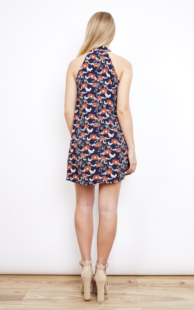High Neck Floral Dress by Lola May