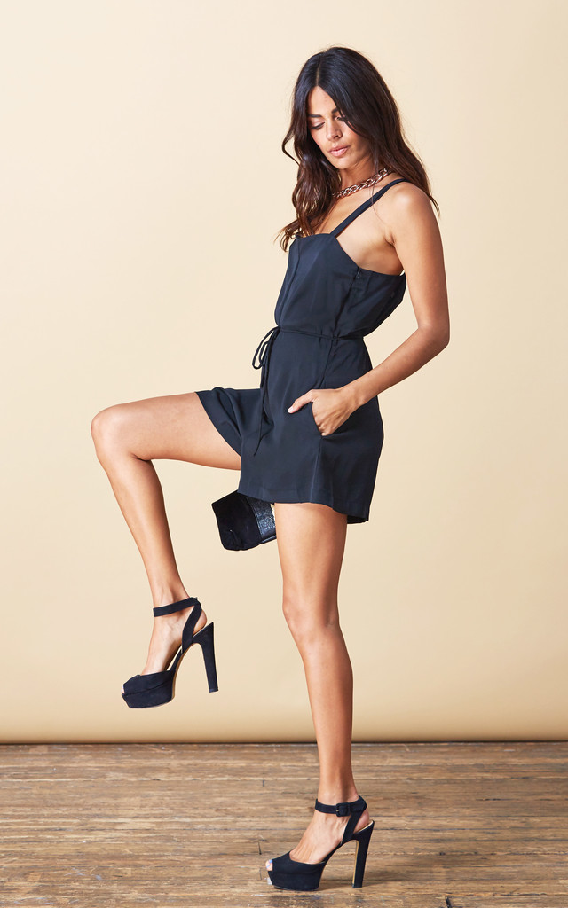 Souza Playsuit in Black image