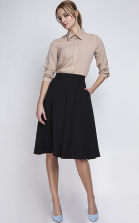 Black Midi Skirt by Lanti