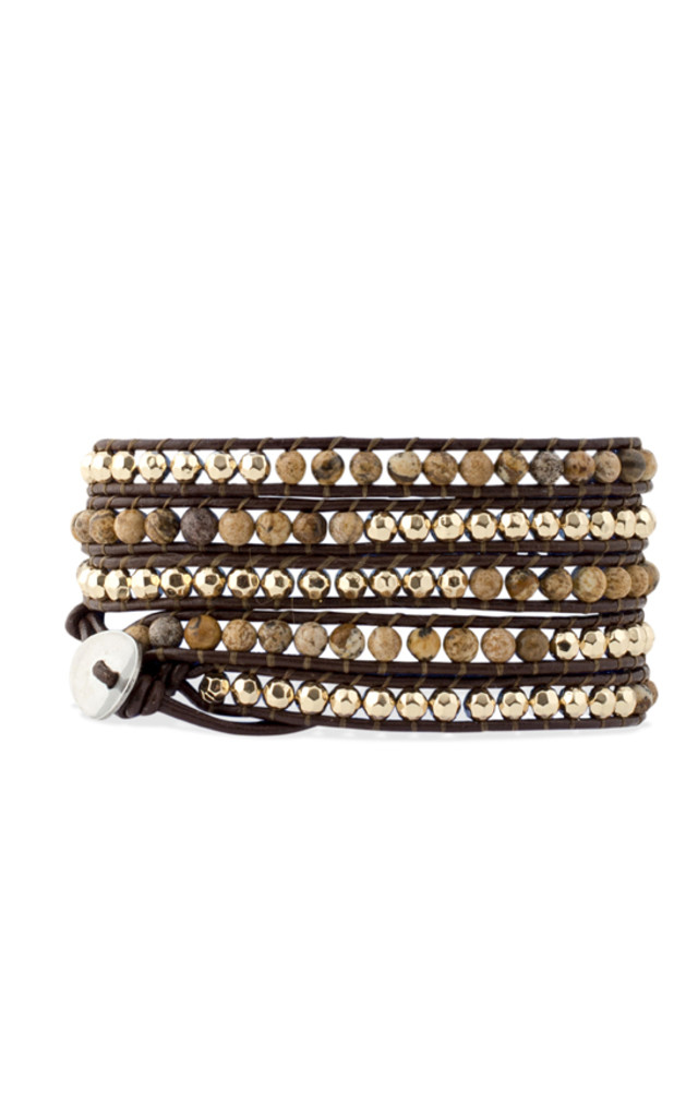 Bohemian Leather Wrap Bracelet by Collections by Hayley