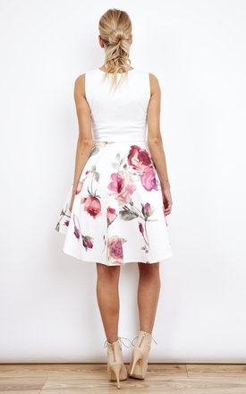 Rose Print Hi-Low Prom Dress by Lilah Rose