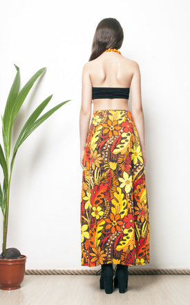 Hawaii printed 70s hippie maxi skirt by Pop Sick Vintage