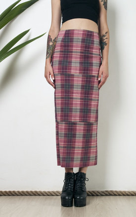 90s grunge checked pencil skirt by Pop Sick Vintage
