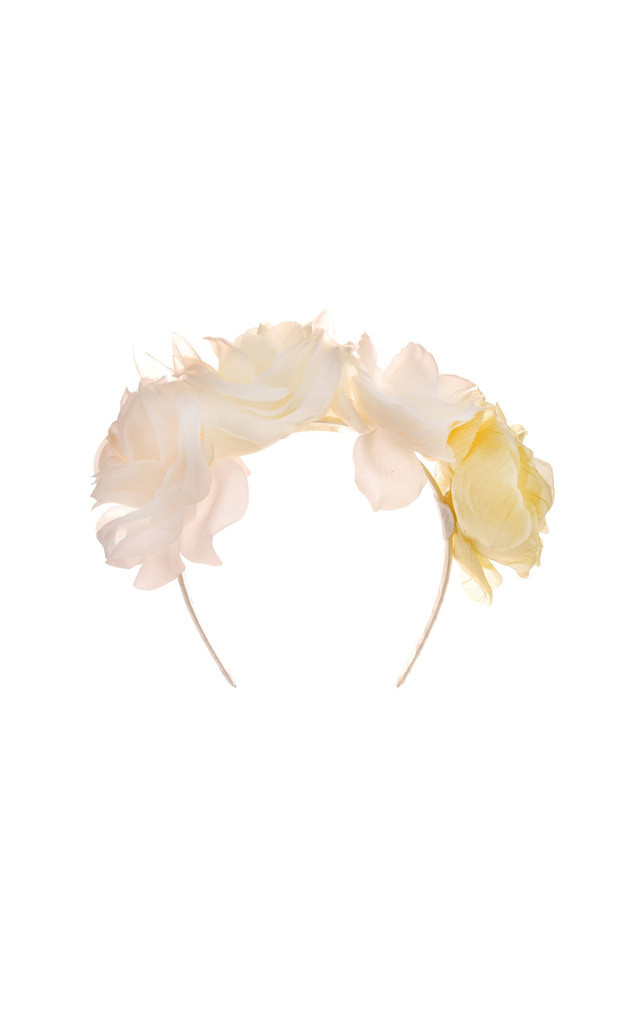 Isla Cream Floral Hairband by Johnny Loves Rosie