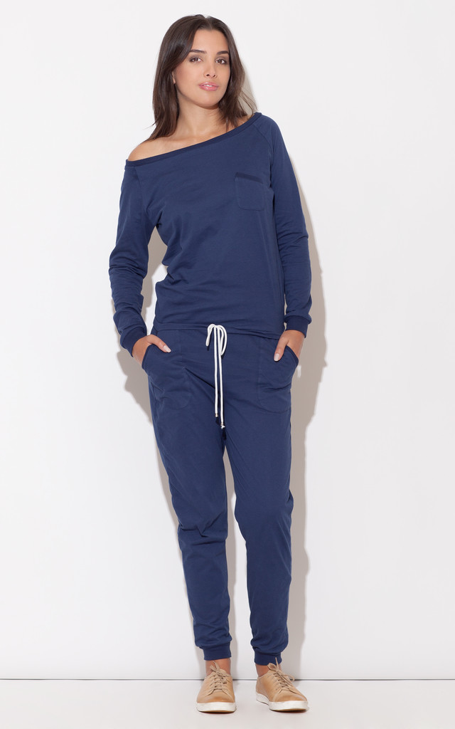 Sporty Navy Jumpsuit Katrus Silkfred