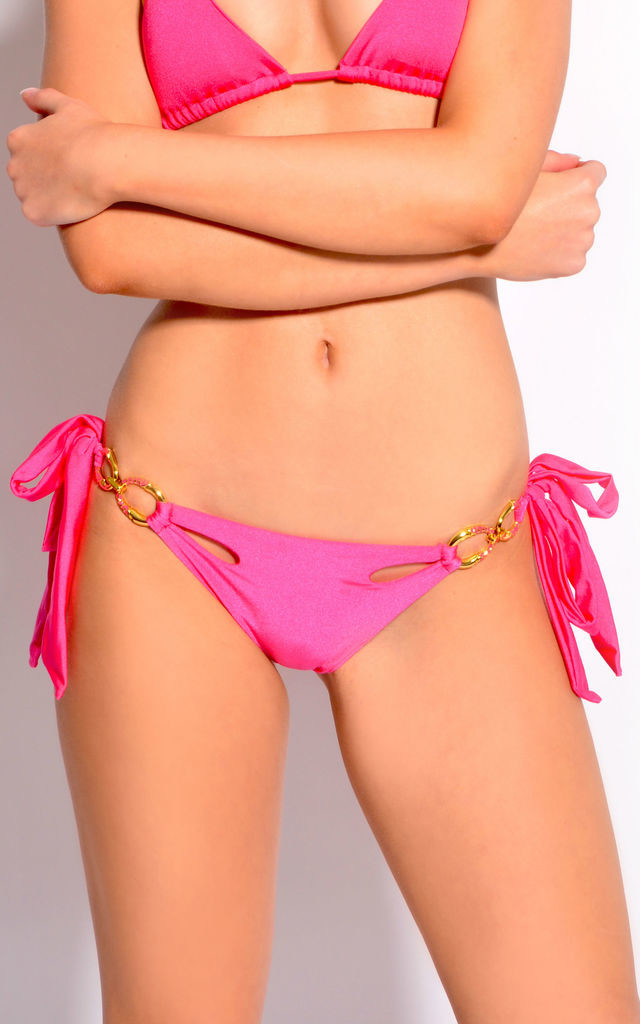 Sea Siren Fuchsia Bikini Briefs by SasSea Swimwear