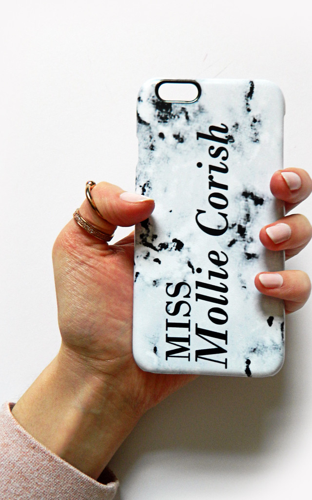 Marbled style 01 personalised phone case by Rianna Phillips