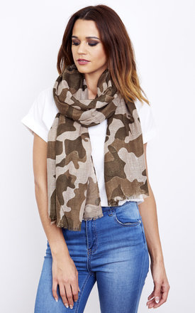 Camouflage Printed Scarf by Lilah Rose