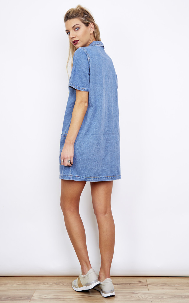 Denim Tunic Dress with Pockets by VILA