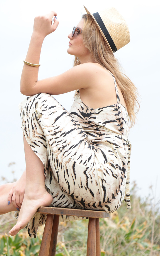 Tiger Print Maxi Tank Dress by likemary
