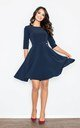 Navy blue flared dress by FIGL