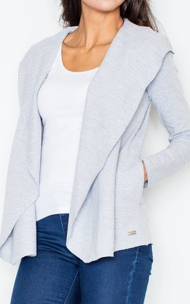Grey cotton throw top by FIGL