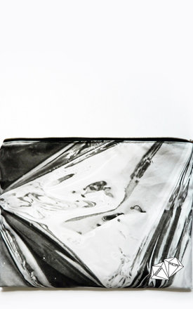 Foil print xl Clutch by Rianna Phillips