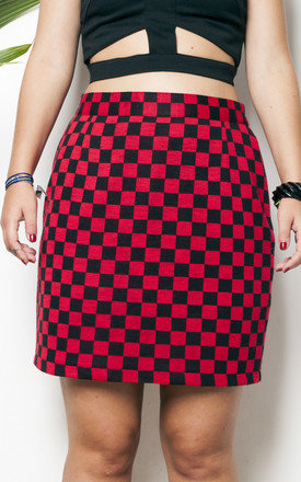80s vintage punk chess checked grunge skirt by Pop Sick Vintage
