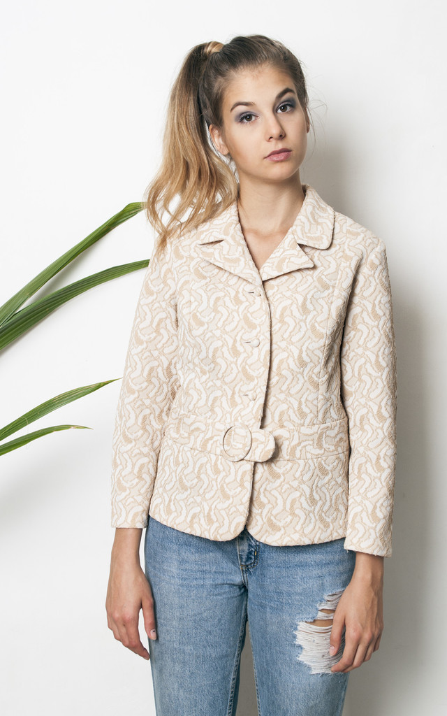 70s vintage beige jacket by Pop Sick Vintage