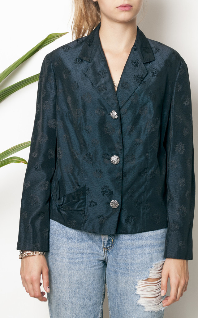 50s vintage pine green party jacket by Pop Sick Vintage